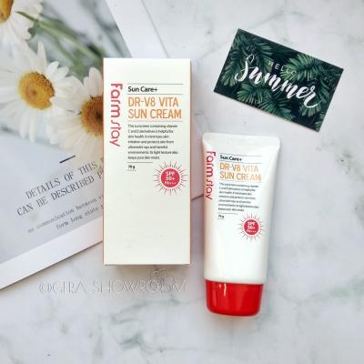 FarmStay DR-V8 Vita Sun Cream Витаминизированный солнцезащитный крем SPF 50+/PA+++