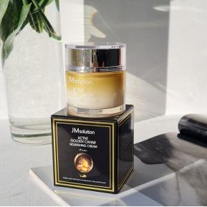 JMsolution Active Golden Caviar Nourishing Cream Омолаживающий питательный крем с экстрактом икры и золотом