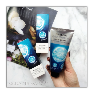 FarmStay Visible Difference  Collagen Hand Cream крем для рук с коллагеном