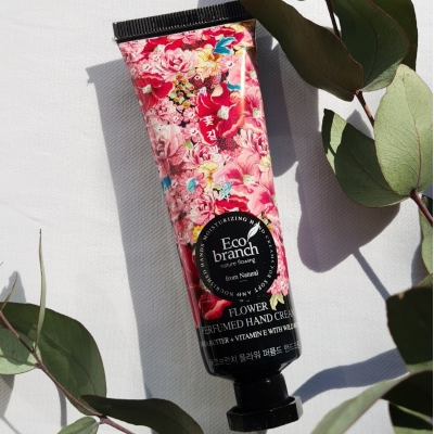 Eco Branch Flower  Perfumed Hand Cream Крем для рук с экстрактом розы и маслом Ши
