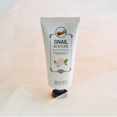 Jigott  Snail Moisture Foot Cream Увлажняющий крем для ног с муцином улитки
