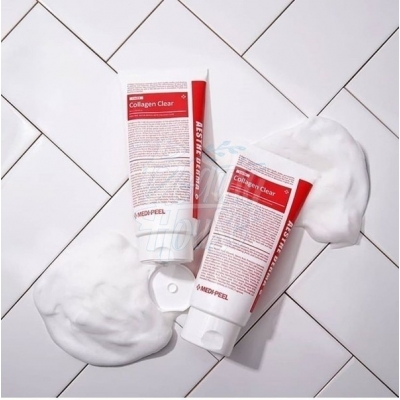MEDI-PEEL Aesthe Derma Lacto Collagen Clear Очищающая пенка для умывания с лактобактериями