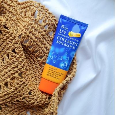 Ekel Collagen Soothing & Moisture Sun Block SPF50+ PA+++ Крем солнцезащитный с коллагеном