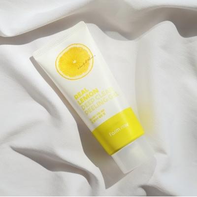 FarmStay Real Lemon Deep Clear Peeling Gel Пилинг-скатка с экстрактом лимона