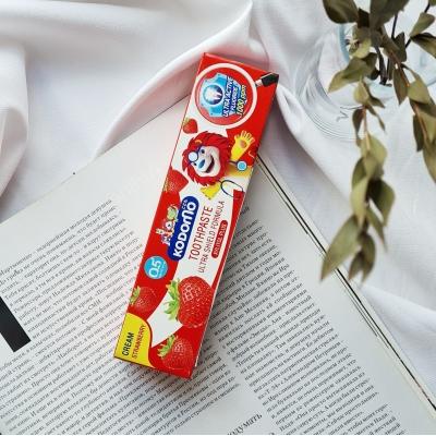Komodo Toothpaste Strawberry Детская зубная паста с ароматом клубники