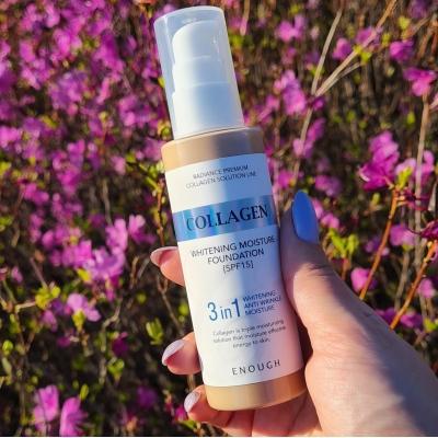 Enough Collagen Whitening Moisture Foundation SPF 15 Тональный крем с коллагеном 3 в 1 для сияния кожи