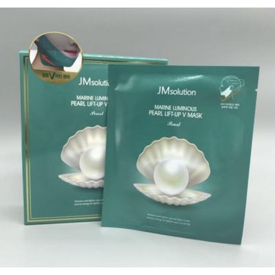 JMsolution Marine Luminous Pearl Lift-up V Mask Маска для подтяжки контура лица с протеинами жемчуга
