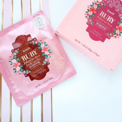 Koelf Ruby and Bulgarian Rose Hydro Gel Mask Pack гидрогелевая маска с экстрактом болгарской розы и рубиновой пудрой