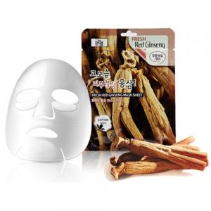 3W CLINIC Fresh Red Ginseng Mask Sheet тканевая маска для лица КРАСНЫЙ ЖЕНЬШЕНЬ