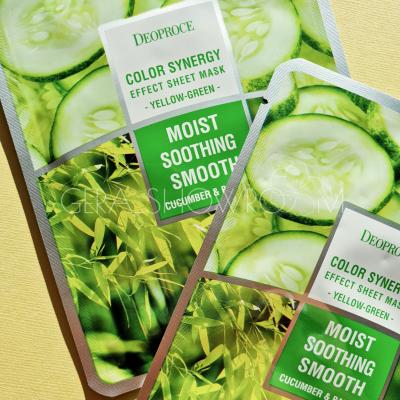 Deoproce Color Synergy Effect Sheet Mask Yellow-Green Sheet тканевая маска на основе бамбука и огурца