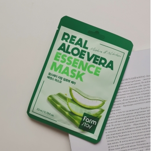 FarmStay REAL ESSENCE ALOE MASK тканевая маска для лица с экстрактом алоэ