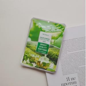 """Deoproce Color Synergy Effect Sheet Mask Green Тканевая маска """"Алоэ и зелёный чай"""""""