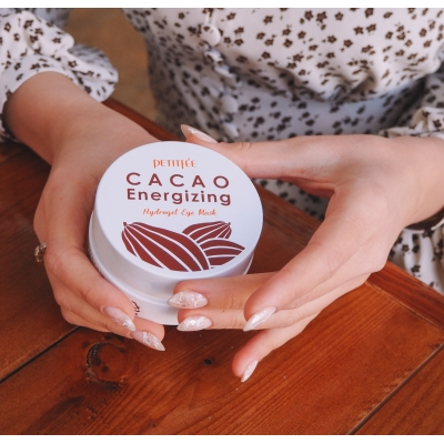PETITFEE Cacao Energizing Hydrogel Eye Patch Тонизирующие гидрогелевые патчи с какао