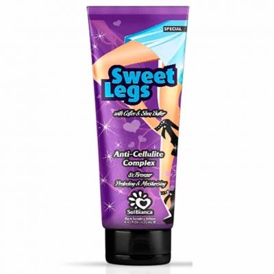 SolBianca Sweet Legs Крем для ног с маслом кофе, маслом ши и бронзаторами для загара в солярии